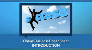 online business cheat sheet step-by-step training course