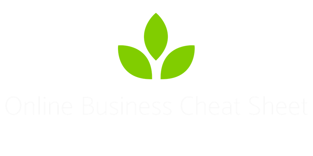 Online Business Cheat Sheet